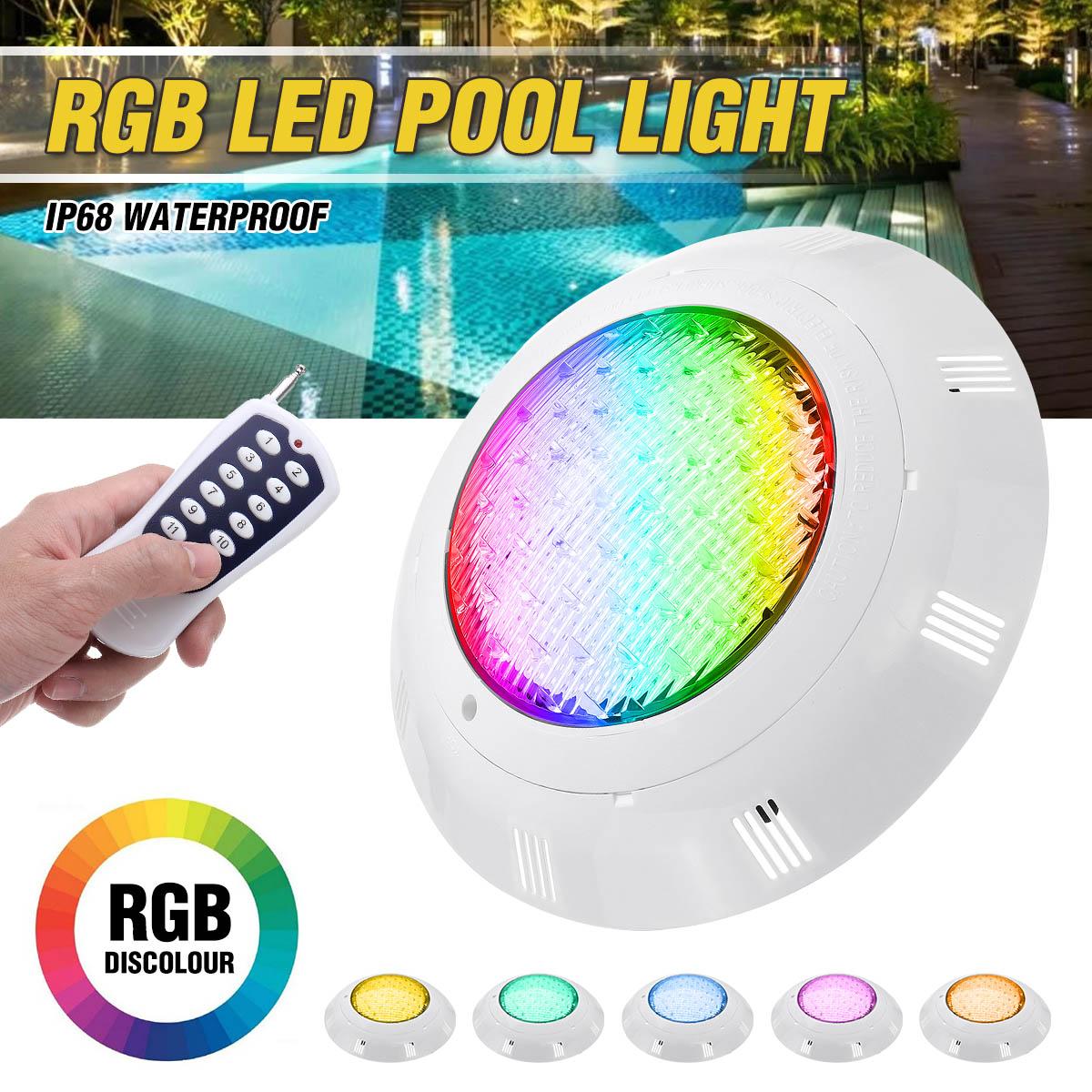 RGB Led السباحة إضاءة حمام السباحة/المسبح 45 واط 450LED IP68 مقاوم للماء التيار المتناوب/DC12V-24V في الهواء الطلق RGB مصباح تحت الماء بركة Led psquina لوز الأضوا...