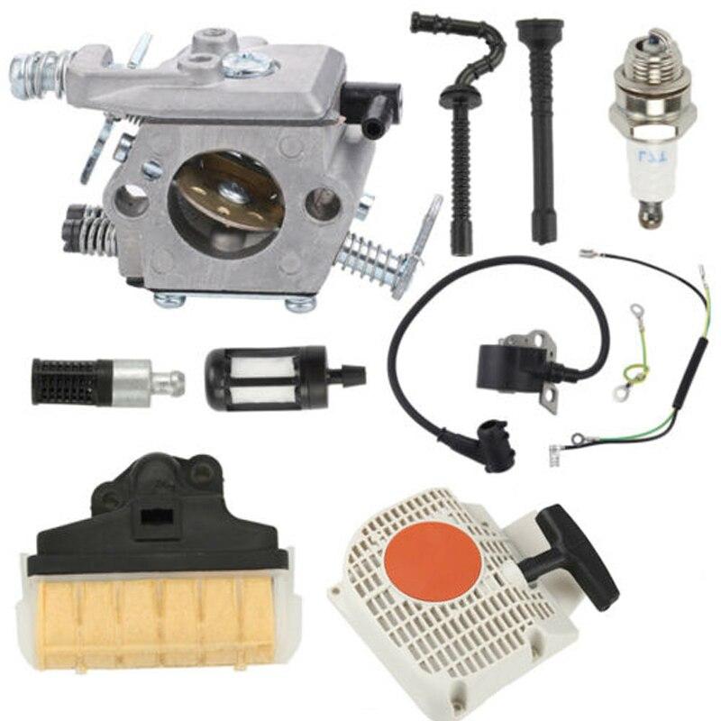 Carburador de alta calidad para Stihl 021 023 025 MS210 MS230 MS250 Kit de arranque de carburador de motosierra