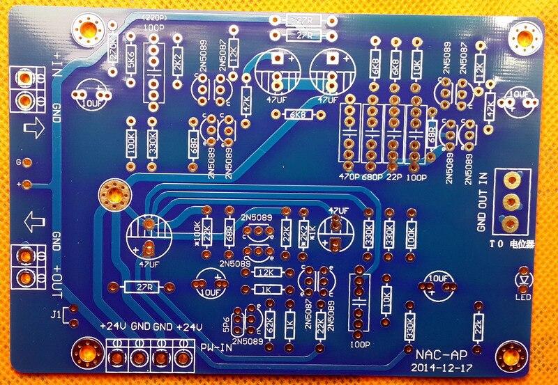 2 piezas Naim NAC152 Placa de preamplificador de clase A de un solo extremo 2N5089 2N5087 Triode