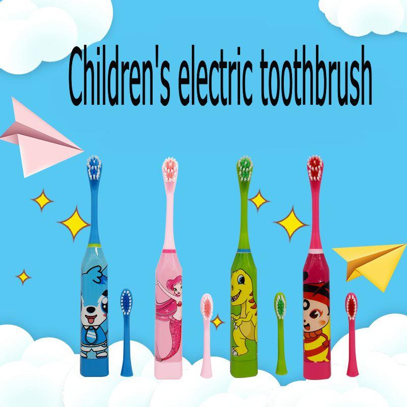 Cepillo de dientes de dos caras con diseño de dibujos animados para niños