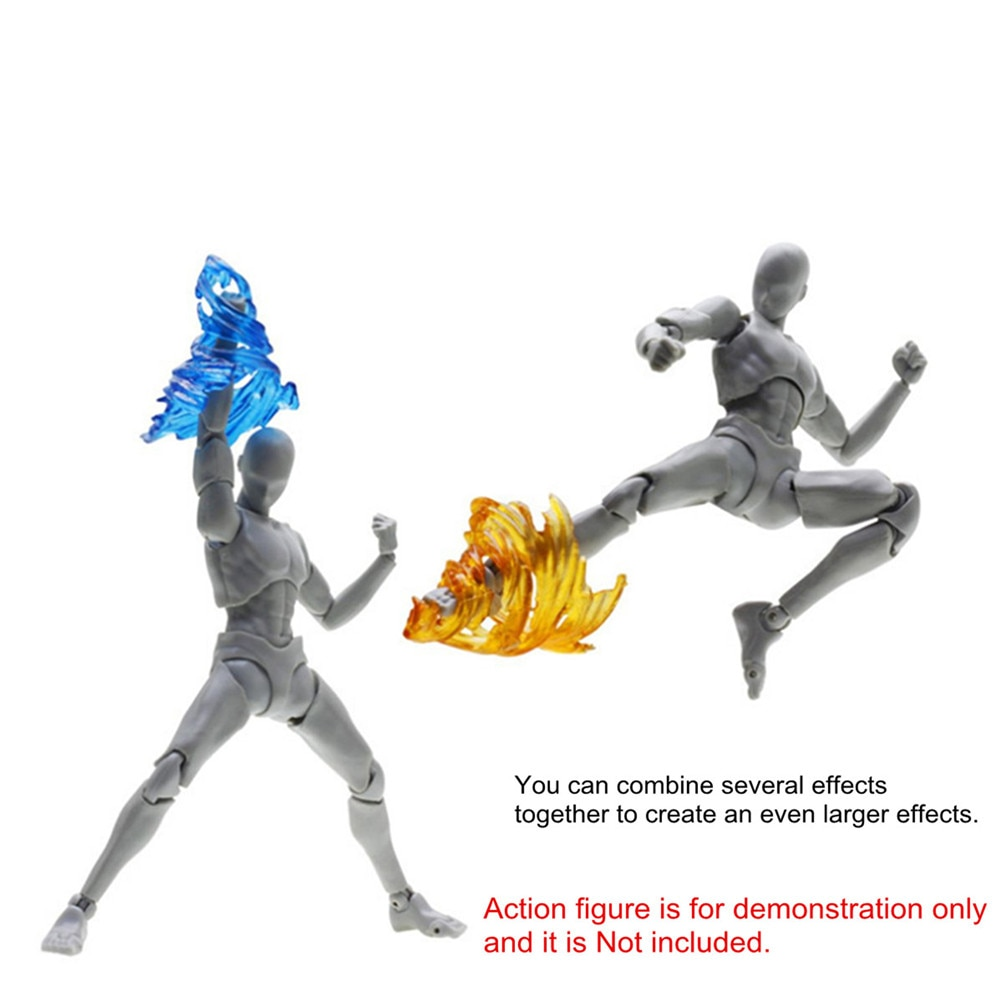 Colorido tornillo efecto de impacto figura de acción viento Kick Flame para Kamen Rider Figma SHF modelo efectos especiales piezas accesorios