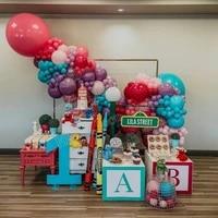 173pcs lake blue balloons garland arch kit maka pink red ballon for baby shower wedding birthday christma party decor globos