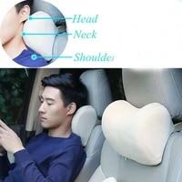 ichenong 1pcs car neck pillow for neck pain relief and cervical support car seat neck pillow memory foam car headrest pillow