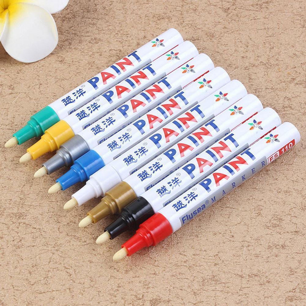 1 шт. 12 цветов на выбор, водонепроницаемая ручка для покраски автомобильных шин и протекторов, металлические принадлежности для стационарны...