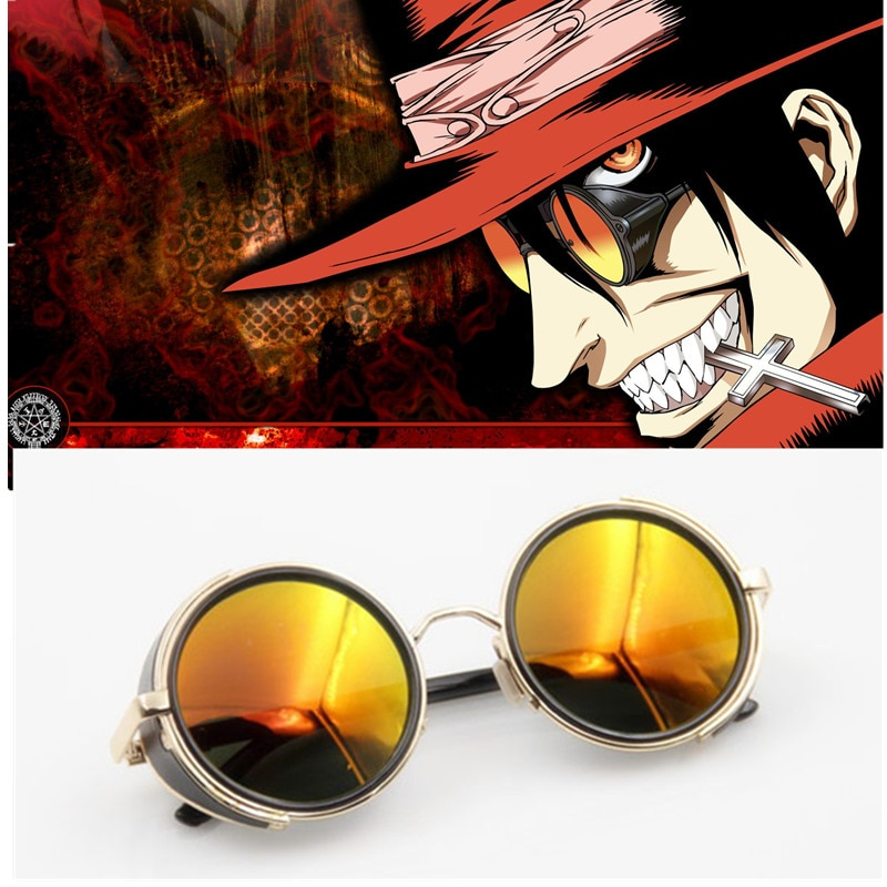 Anime HELLSING Alucard Cosplay gafas cazador de vampiros accesorios gafas de sol hombre accesorio de moda para la mujer vestido
