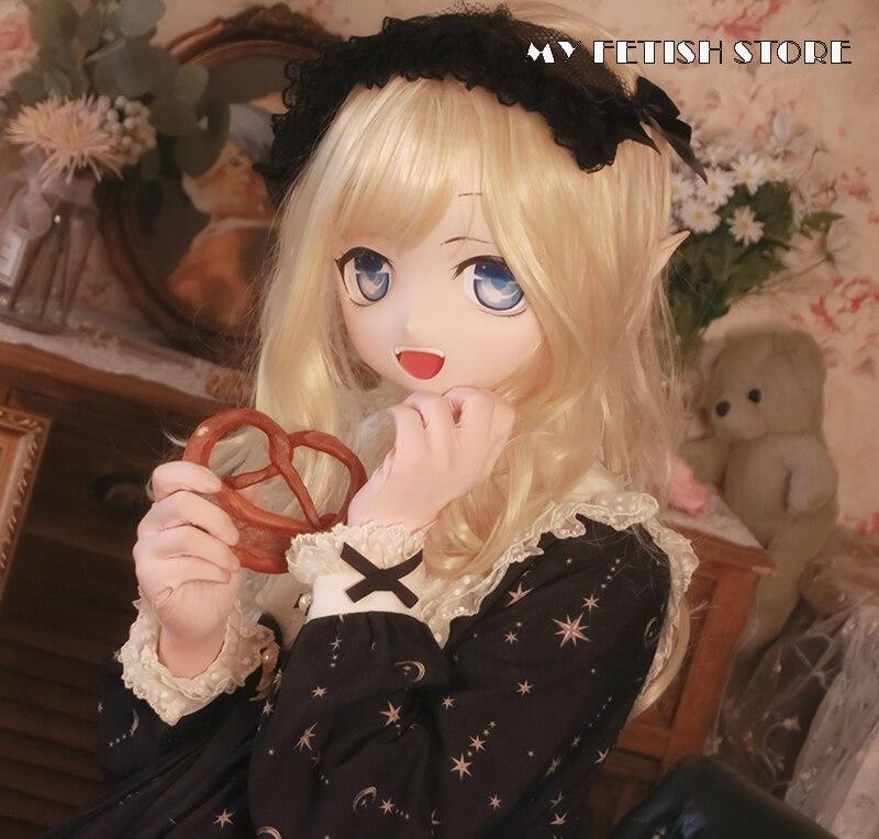 (KXZ11) تخصيص كامل رئيس الإناث/فتاة الراتنج كروسدريس اليابانية الكرتون الطابع Animego تأثيري Kigurumi دمية قناع السحب ملكة