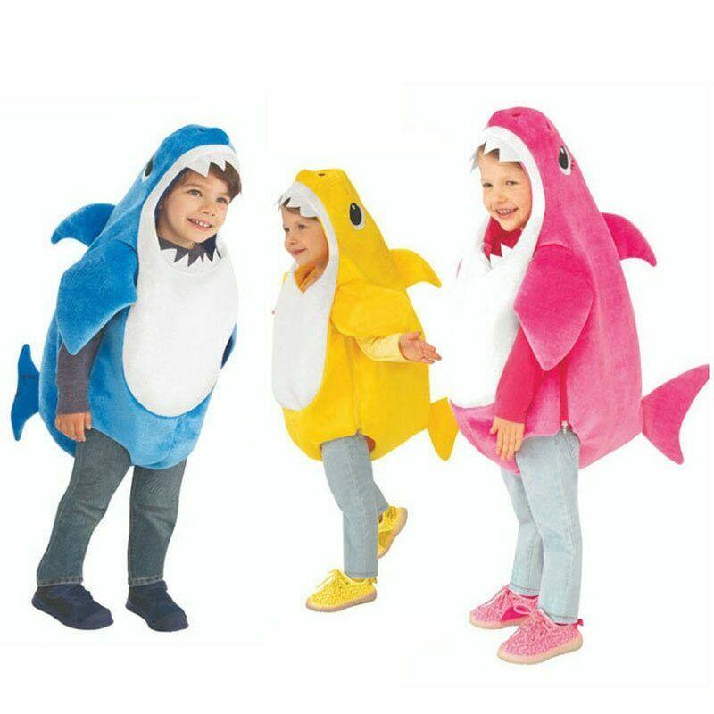 أفخم التميمة زي للجنسين طفل الأسرة القرش الاطفال تأثيري دعوى كرنفال النشاط الملابس الحيوان Fursuit ل الأطفال
