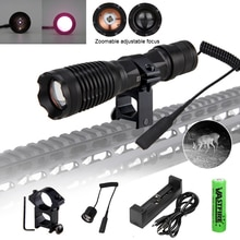 940nm IR Infrared LED Light Zoom Flashlight Night Vision Hunting Torch+18650+CH+Mount