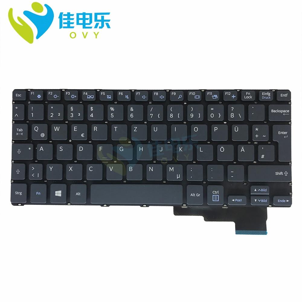لوحة مفاتيح بديلة لهاتف Samsung Galaxy book 2 ، لوحة مفاتيح كمبيوتر محمول رمادي ، إصدار ألماني ، إدخال كبير ، NSK MX0PN