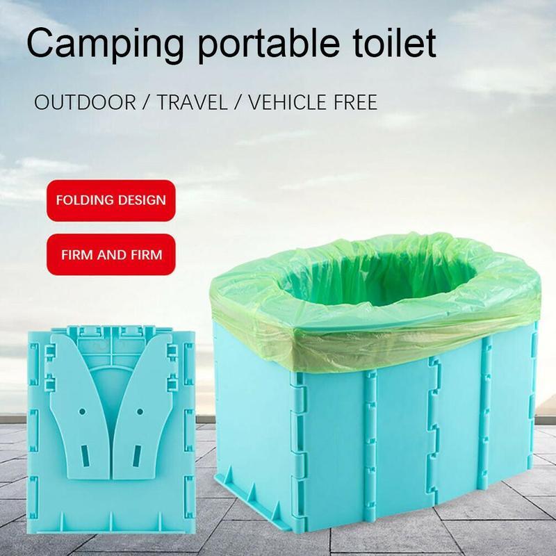 Портативный складной туалет, складной туалетный горшок, удобное ведро, туалет для кемпинга, пешего туризма, путешествий, туалет, безопасные ...