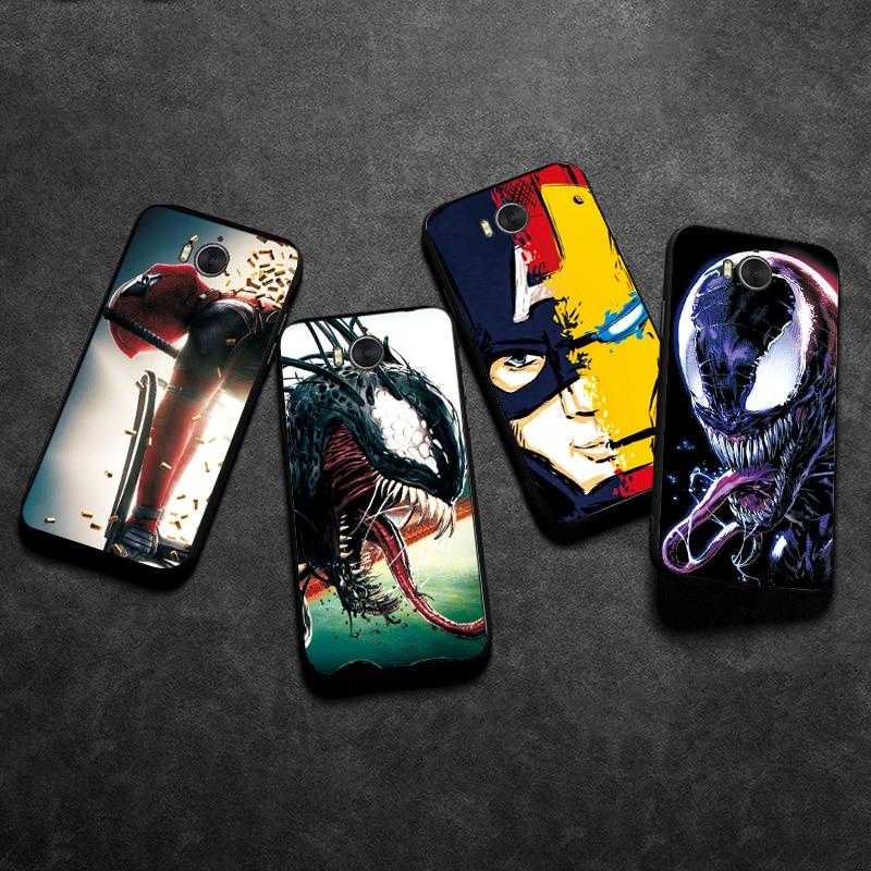 Black TPU Case For Huawei Y6 2017 Case Y6 2017 Back Cover For Huawei Y6 Y5 2018 Venom Joker Phone Case Bumper For Huawei Y6 2019