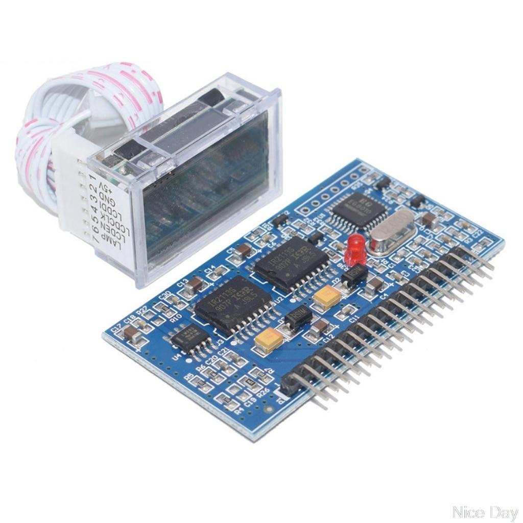 1 Set DC-DC DC-AC Pure Sine Wave Generator Inverter Boost Driver Board EGS002 + IR2110 LCD Driver Module DIY My07 20