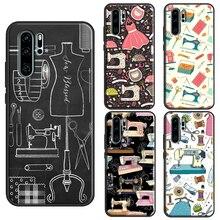 Sewing Machine TPU Case For Huawei P40 Lite P10 P20 P30 Pro P Smart 2019 Z Mate 30 Pro 10 20 Lite