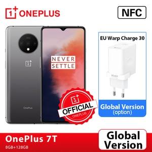 Оригинальный смартфон OnePlus 7 T 7 T с глобальной прошивкой, 8 ГБ, Snapdragon 855 Plus, 6,55 дюйма, 90 Гц, AMOLED экран, тройная камера 48 МП, NFC, Android 10