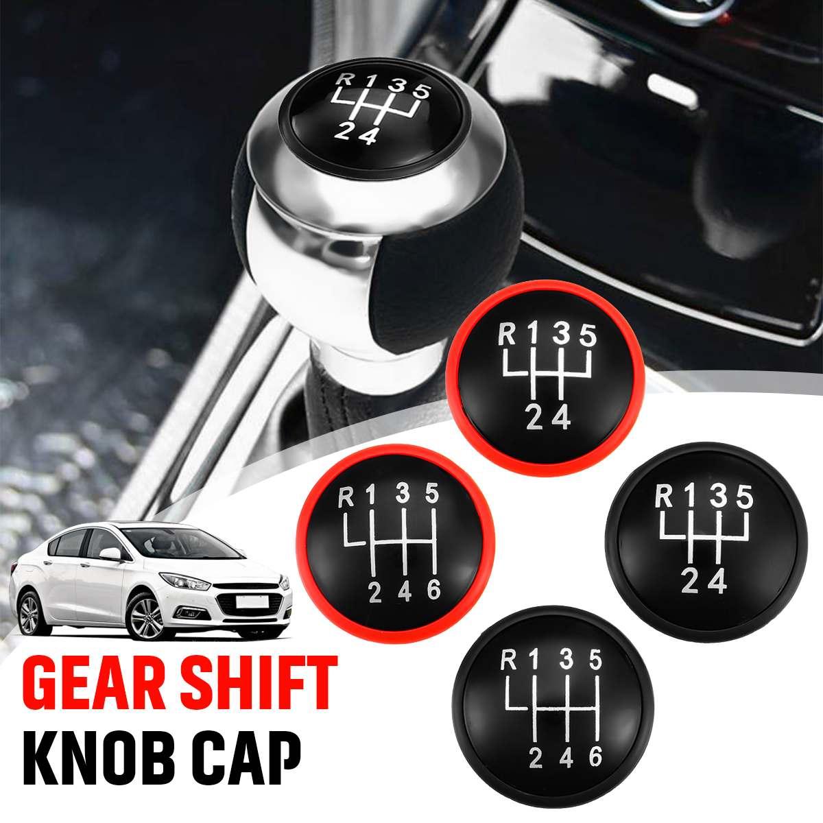 5/6 perilla de cambio de velocidad de engranaje de mando superior tapas Rojo Negro para VW MK3 MK4 Golf/Jetta GTI Bora para asiento Ibiza Caddy