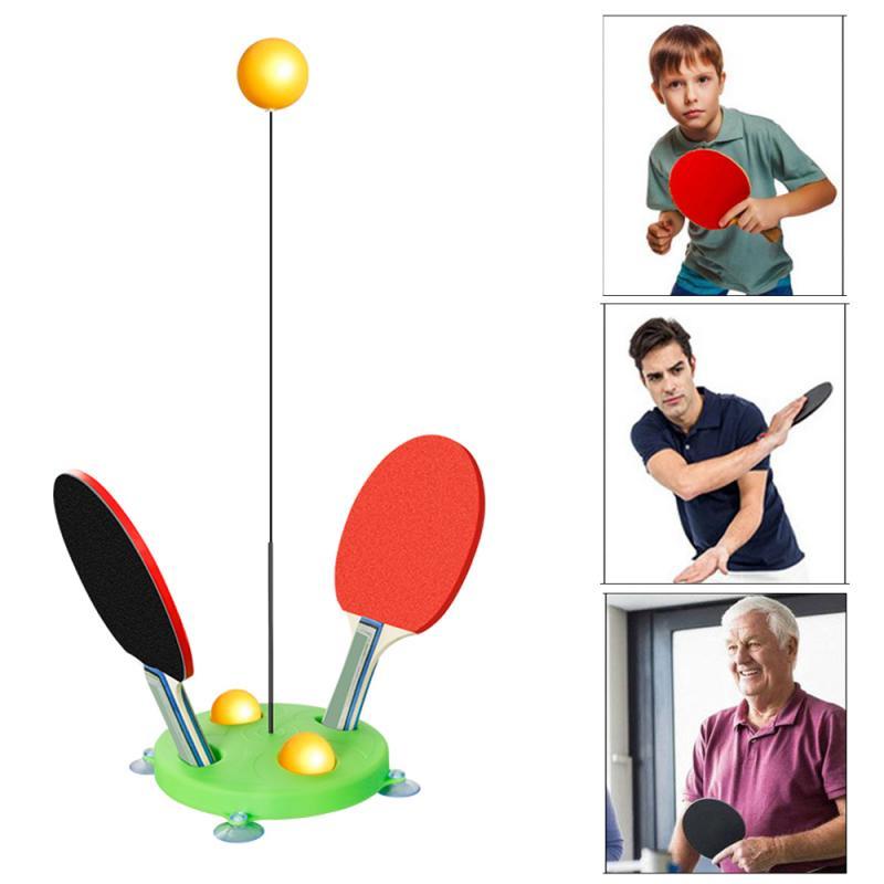 Tênis de mesa ping pong treinamento robô casa ventosa dispositivo de treinamento de tênis de mesa macio máquina de treinamento do eixo