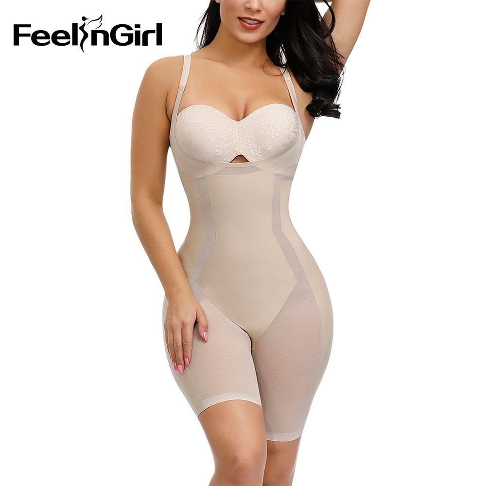 FeelinGirl Women Butt Lifter Body Shaper Postoperative Tummy Control Comfortable Underwear Waist Trainer Shapewear