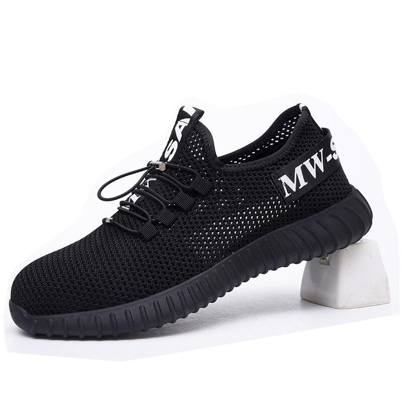Новая выставка безопасная обувь 2019 Для Мужчин's Сталь носком; Рабочая обувь строительных работ кроссовки для улицы, Дышащие Модные защитные ботинки