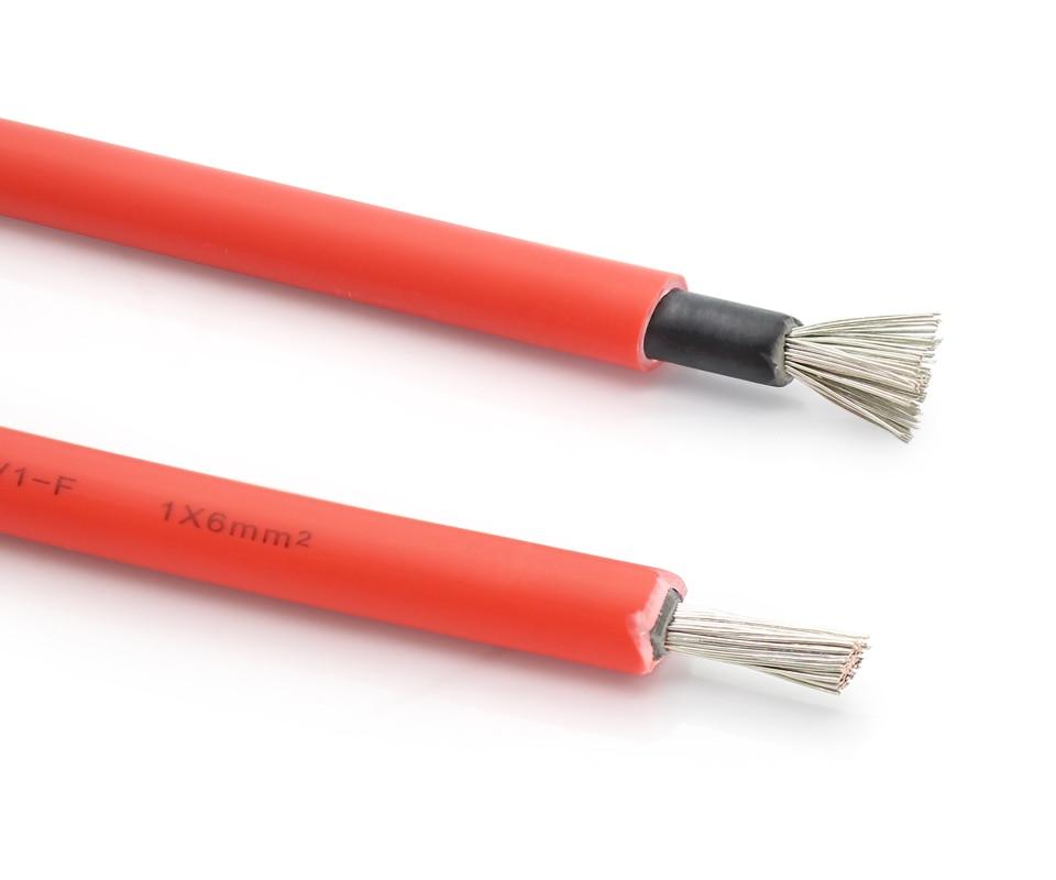 PV1-F 1169 Cable Solar 6mm UL4703 1*6mm2(10AWG) pv cable solar para el sistema PV
