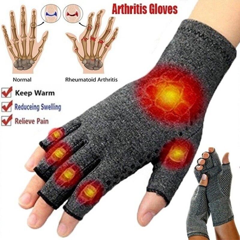 1 Pairs zimowe zapalenie stawów rękawiczki rękawiczki do ekranu dotykowego anty zapalenie stawów terapia rękawice kompresyjne i ból ból stawów ulga ciepłe
