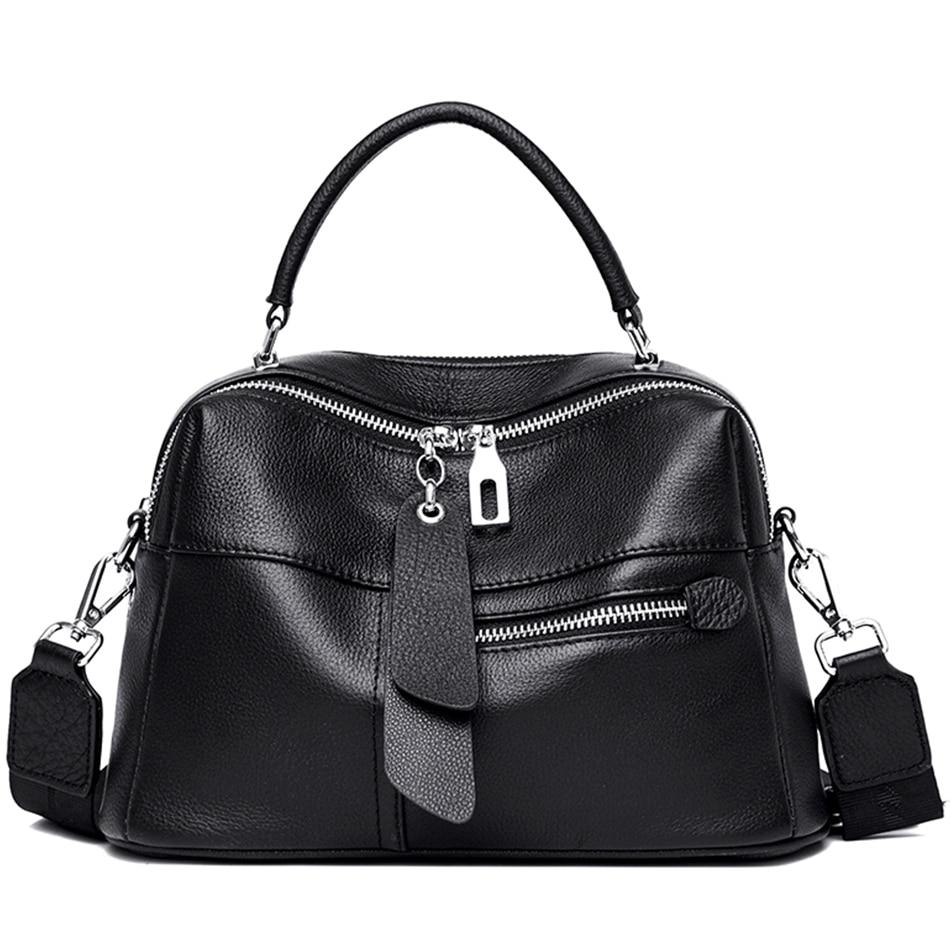 2 طبقات حمل 100% جلد البقر النسيج حقائب يد جلدية صغيرة المرأة حقيبة كتف عالية الجودة موضة الإناث مصمم العلامة التجارية حقيبة