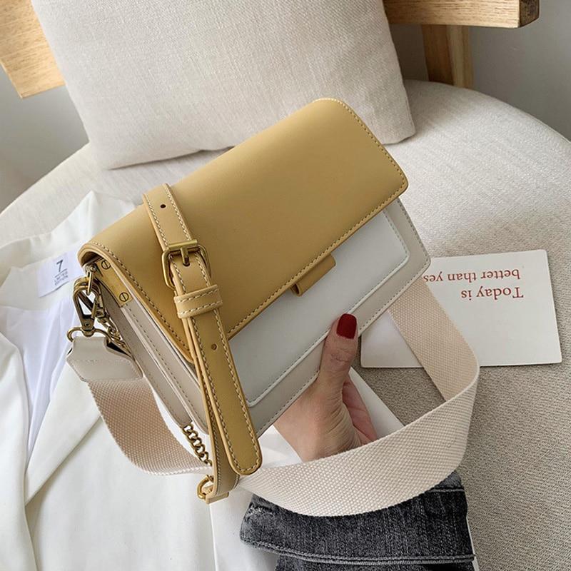 حقائب كتف نسائية بغطاء ، حقيبة كتف ذات طبقات ، حزام سلسلة ، حقيبة يد ومحافظ ، عصرية