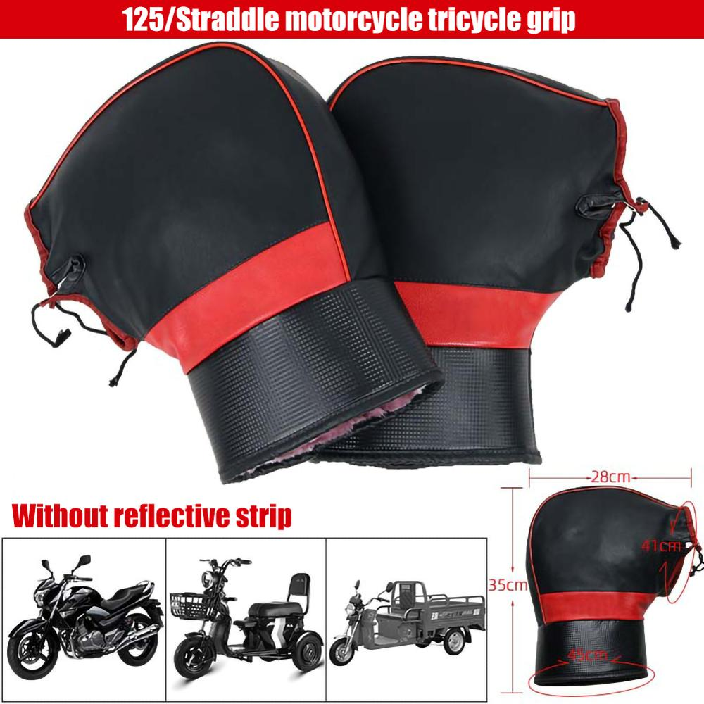 Motorcycle Handlebar Winter Thick Warm Thermal Cover Gloves Rainproof Riding Gloves for Motorcycles Scooters and Snowmobiles enlarge