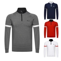 fall 2020 new golf clothes mens outdoor sports leisure long sleeve t shirt polo shirt breathable and sweat wicking
