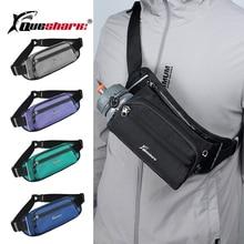 Queshark Sports Running Wag with Water Bottle Holder Waist Bag For Men Women 6.5 inch Mobile Phone Multi-use Fitness Waist Pack