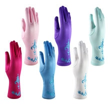 Kids Princess Cosplay Gloves Baby Girl Anna Dress Up Mitten Bows Printed Party Gloves Children Finge