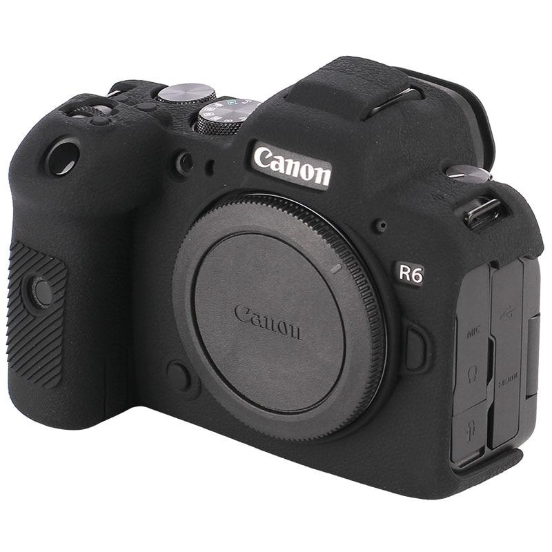 رشاقته عدم الانزلاق لينة سيليكون المطاط الغطاء الواقي كاميرا الجسم لكانون EOS R6 حقيبة حقيبة DSLR