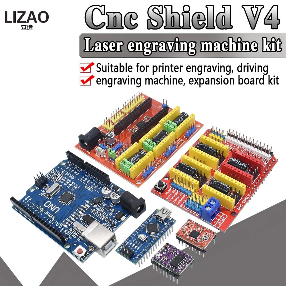 NANO 3.0 CNC shield V3 V4 engraving machine 3D Printer + A4988/DRV8825 driver expansion board UNO R3 with USB cable