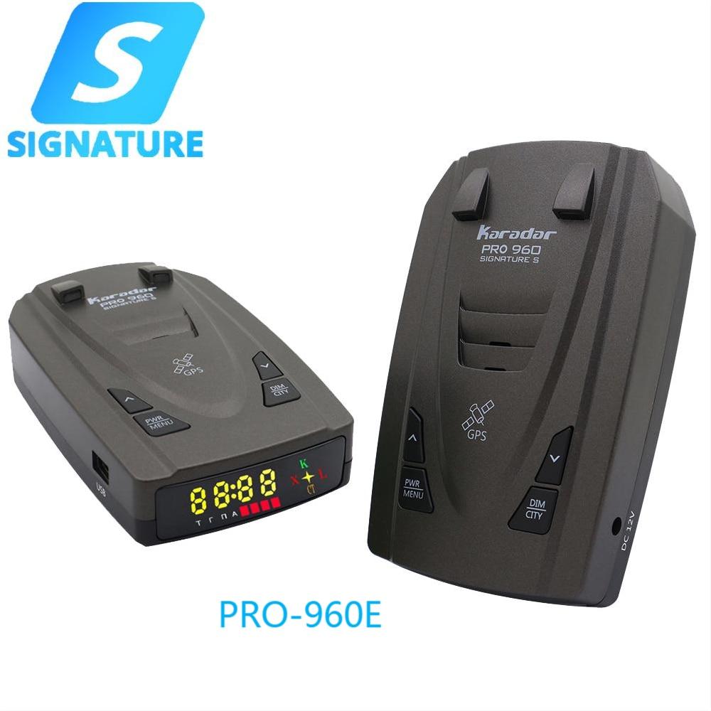Автомобильный антирадар Karadar Pro960E, антирадар со светодиодной индикацией, меню на английском языке, для ЕС, США, Кореи, Азии