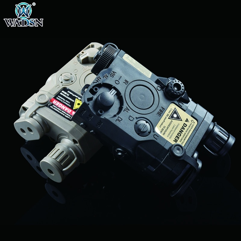 WADSN Airsoft Tactical AN/PEQ-15 Green Red Laser & White Light Function Battery Box Flashlight Weapo