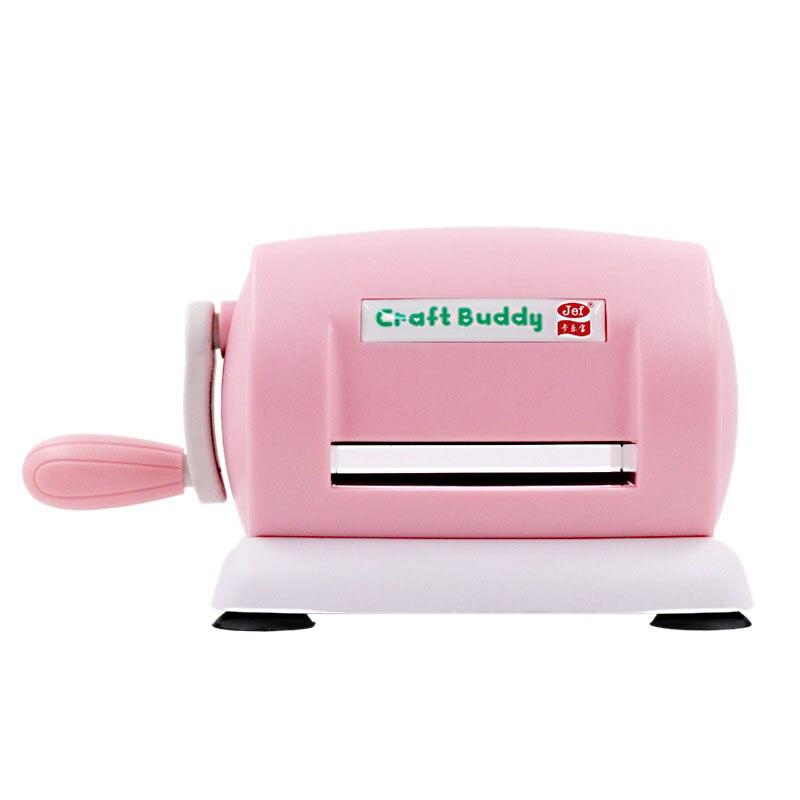 Máquina de corte de papel DIY, troqueladora en relieve para álbum de recortes, cortador de tarjeta de álbum de recortes, herramienta (rosa)