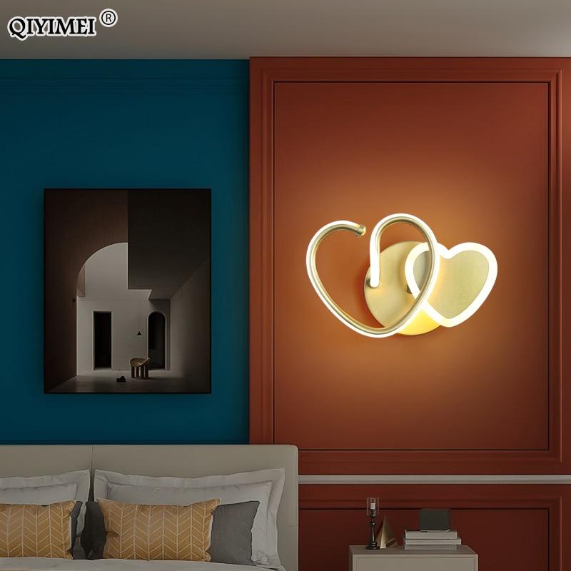 الحديثة وحدة إضاءة LED جداريّة مصابيح لغرفة المعيشة غرفة نوم السرير دراسة الممر الممر جديد الذهب الأسود ضوء إضاءة داخلية تركيبات عكس الضوء