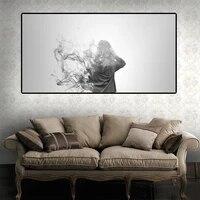 Peinture a lhuile sur toile transparente pour fille  nature  art  salon  couloir  bureau  decoration murale de la maison