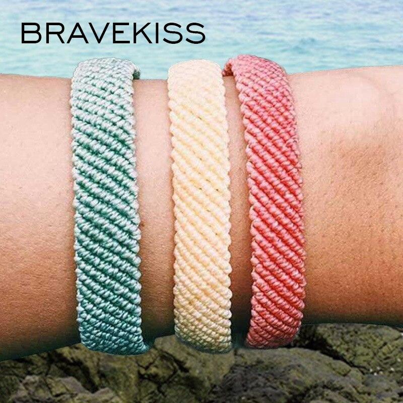 BRAVEKISS, 24 colores, Vsco, pulseras para mujer, pulseras hechas a mano, coloridas, accesorios para mujer, PB0510