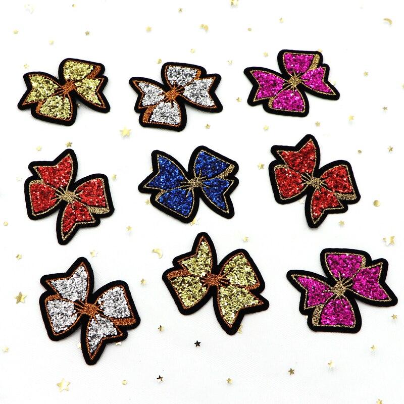 15 unids/lote de parches de lentejuelas coloridas para planchar en coser pegatinas de estrellas para ropa, apliques de Jeans, abrigos DIY, insignias para pantalones, camino de costura
