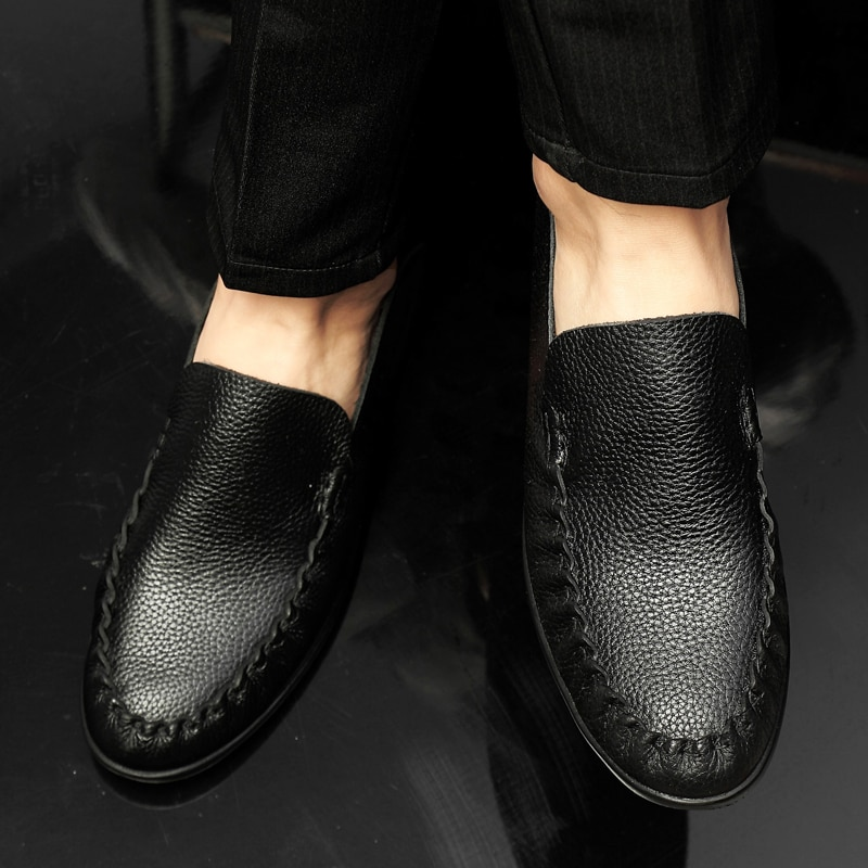Homem de Couro Sapatos de Couro Sapatos de Couro de Couro de Couro de Couro Causal Couro de