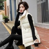 new winter parkas cotton vest coat women jacket loose stand collar female warm waistcoat parka coats sleeveless