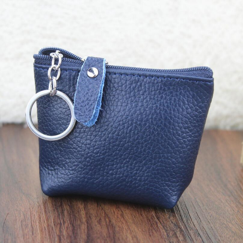 Itapkris Fashion Leather Women Men Key Holder Casual Multifunction Car Key Wallet Coin Pouch Card Ho