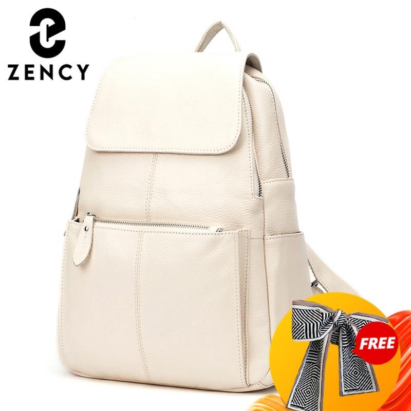 Zencyファッションソフト本革大の女性は、高品質a + 女性の毎日カジュアル旅行バッグナップザック通学ブック