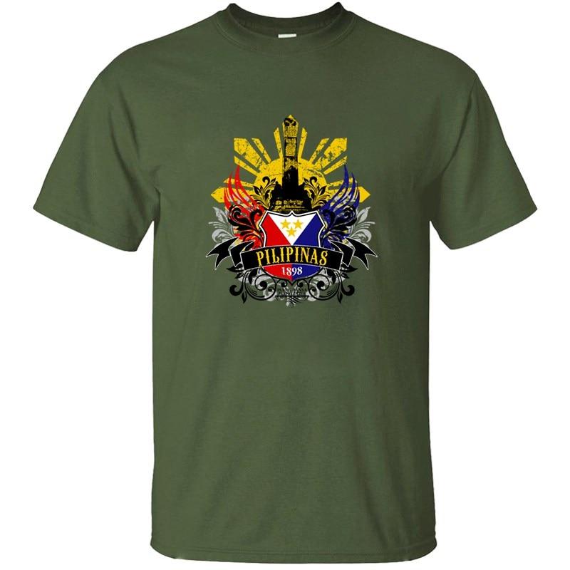 Pilipinas 1898 Año Filipino de playera de independencia para hombres, Unisex, ropa verde militar, camisetas cómicas para hombres