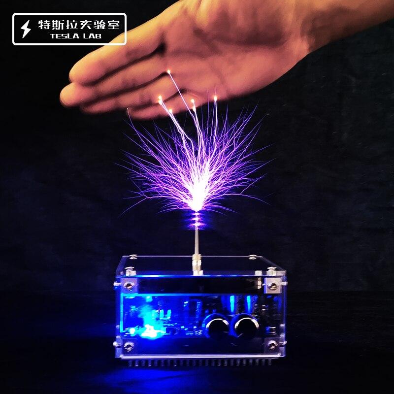 هدية الكريسماس أحدث 10 سنتيمتر لوحة مسطحة بلوتوث الموسيقى تسلا لفائف عالية التردد والجهد العالي نبض اختبار جهاز