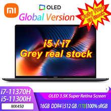 【I7 серый 】xiao mi Laptop Pro 15 i7-11370H/i5-11300H MX450 OLED 3,5 K Super Retina Screen Mi Notebook 15,6 дюйма 100% sRGB компьютер