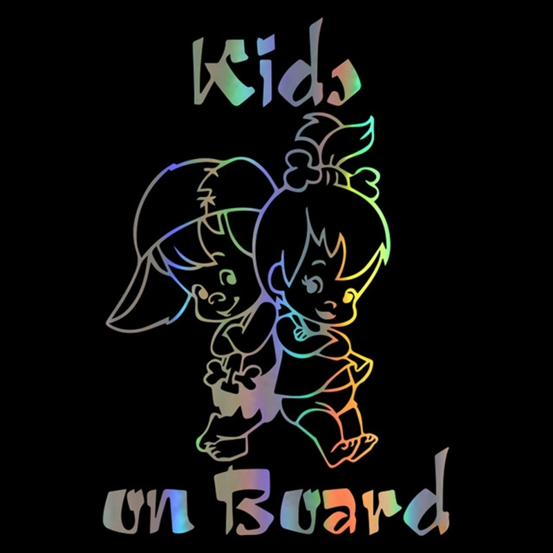 Car Sticker 3D Kids On Board Stickers and Decals Car Styling Funny Sticker On Cars Window Decoration Vinyl Decal 12.7*19cm недорого
