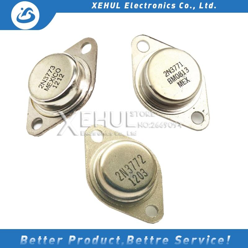 5PCS  NEW 2N3771  N3771 3771  2N3772 N3772 3772 2N3773 N3773 3773 Transistor npn 40V 30A 150W TO-3