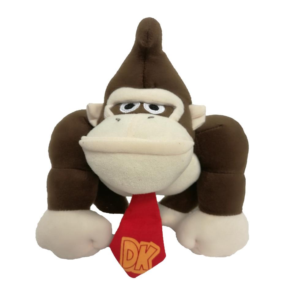 27cm Super Mario Bros Monkey Donkey Kong Plush Toys Cartoon Anime Peluche Soft Stuffed Dolls Gift For Kids Free Shipping