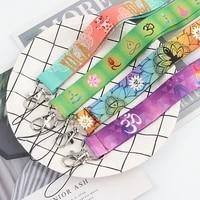 fd0177 yoga lanyard keychains accessory mobile phone usb id badge holder keys strap tag neck lanyard for girls